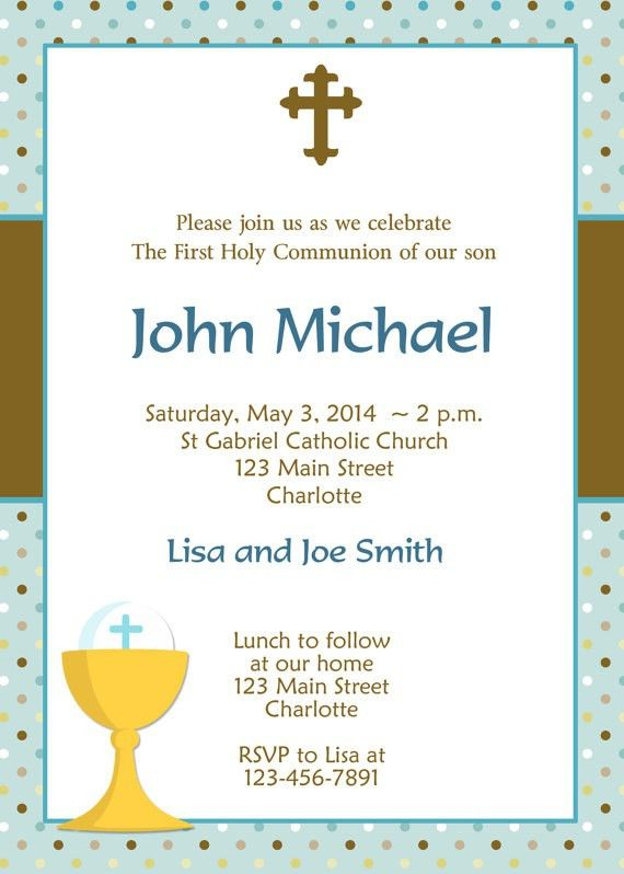 First Communion Invitations Boy | almsignatureevents.com