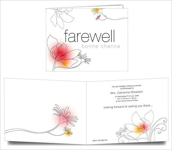 Farewell Card Template - 25+ Free Printable Word, PDF, PSD, EPS ...