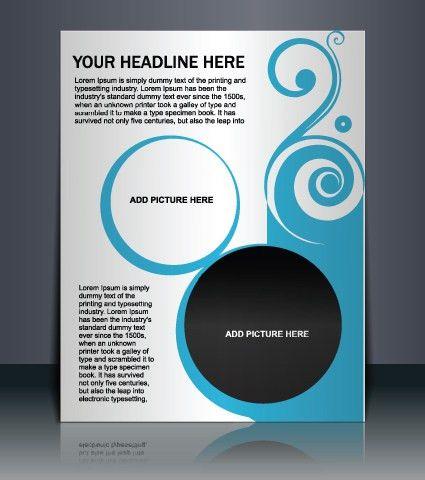Vector template Presentation of flyer design 01 - Vector Cover ...