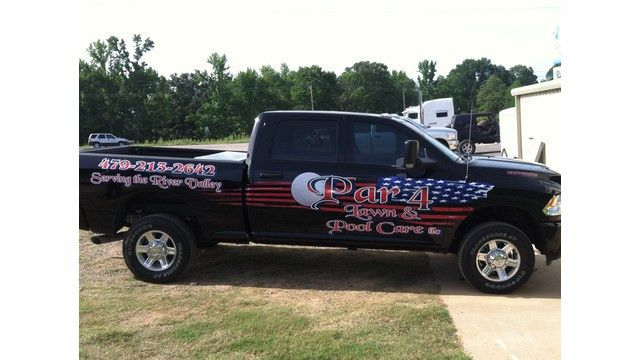 landscape contractors company name on truck   Green Industry Pros