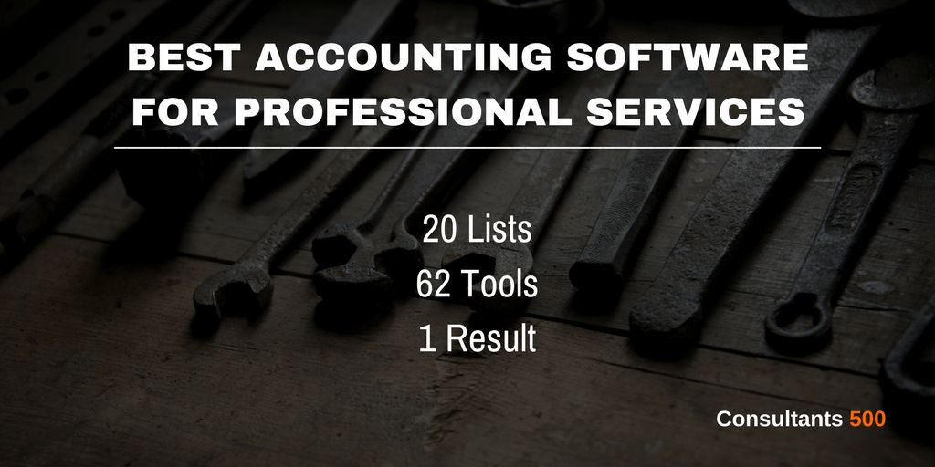 Best Accounting Software for Professional Service Firms