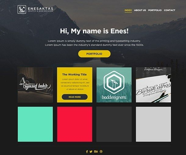 Graphic Design Portfolio Website Templates | Template Design