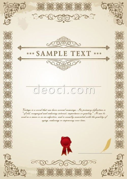 637 deoci.com Vector European certificate design templates EPS ...