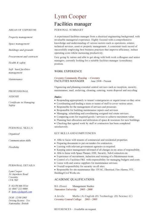 Free Resume Samples For Retail Managers | Professional resumes ...