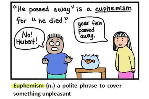 Euphemism Definition - Flashcard Monkey Dictionary