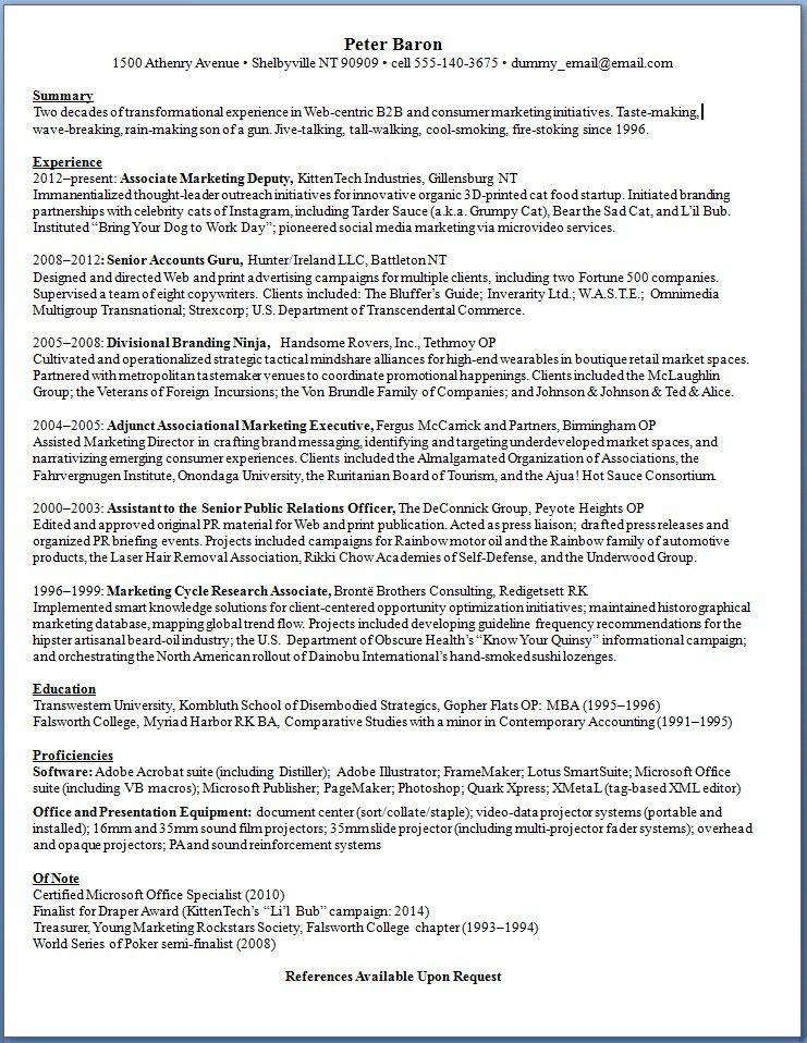 Resume Text Format. Standard Format Resume Standard Resume Format ...