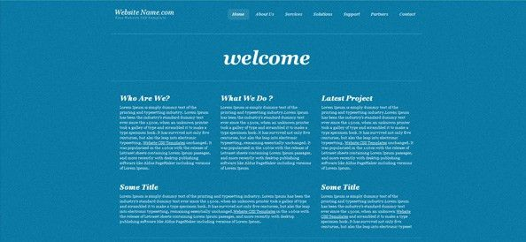 Simple Blue Website CSS Template in Business Style - Website CSS ...