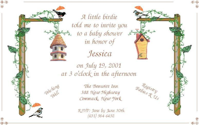 Sample Baby Shower Invitations - Blueklip.Com