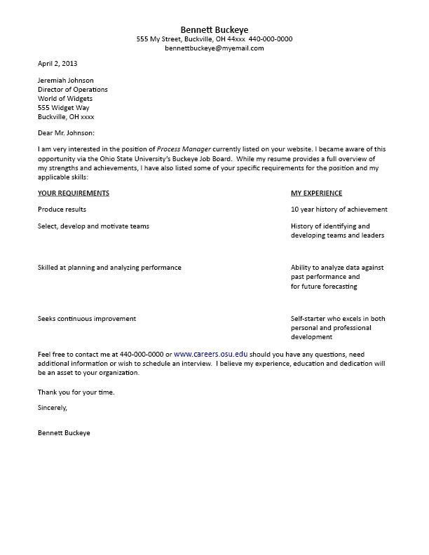 cover t letter table format. cover letter example. t form cover ...
