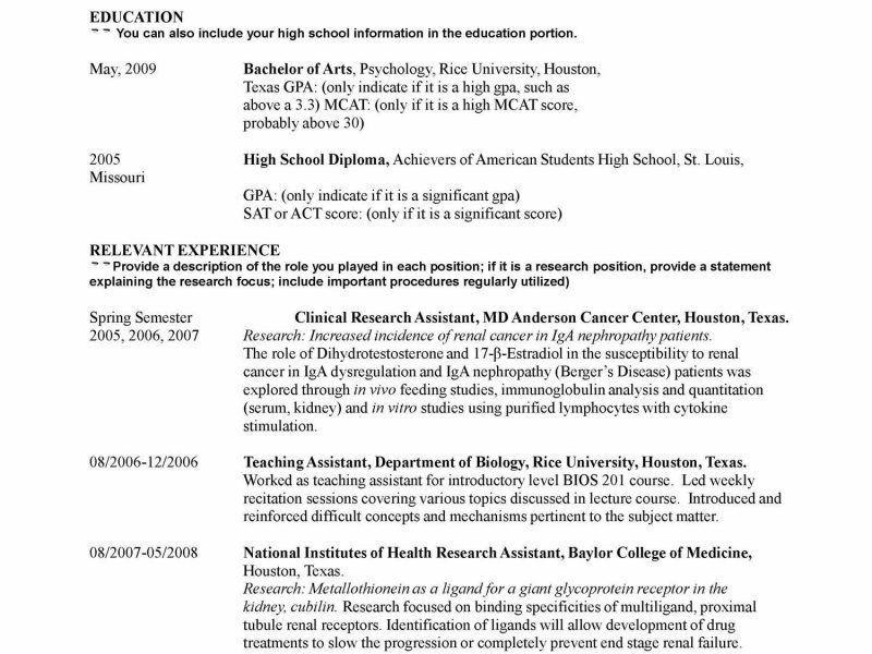 Undergraduate Student Resume Sample - Contegri.com