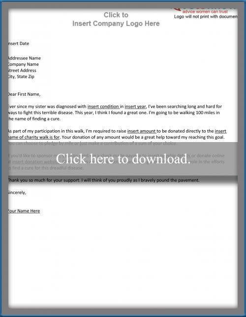 Sample Sponsorship Letter for an Individual