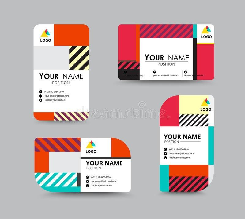 Modern Business Card And Name Card Design. Stock Vector - Image ...