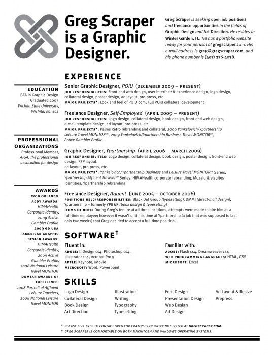 The Awesome Self Employed Resume Template | Resume Format Web
