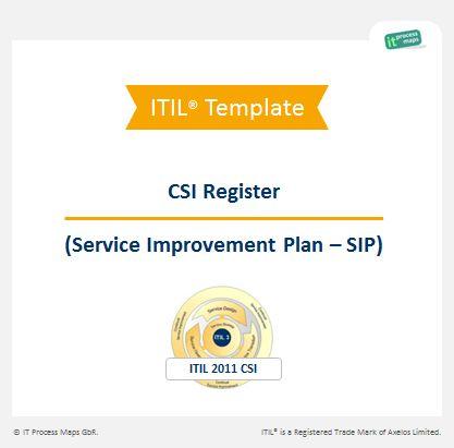 Checklist Service Improvement Plan SIP | IT Process Wiki