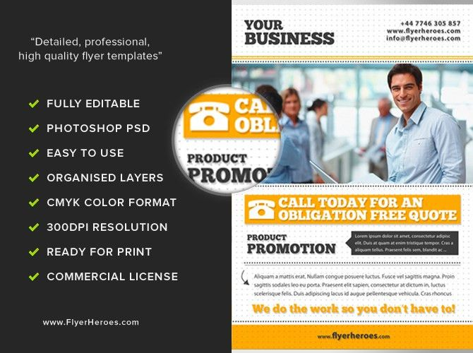 Free Business Flyer Template PSD Download