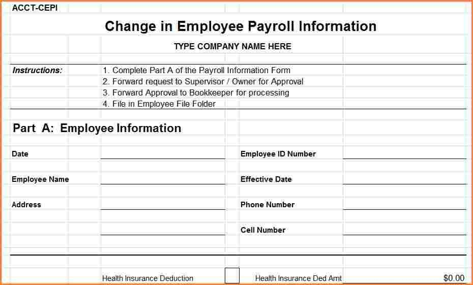 8+ payroll form templates | Sales Slip Template