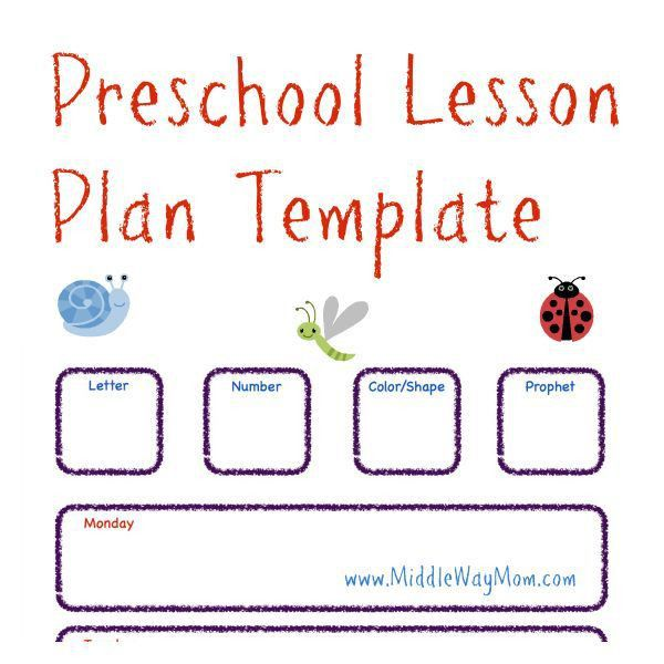 Best 25+ Preschool lesson plan template ideas on Pinterest ...