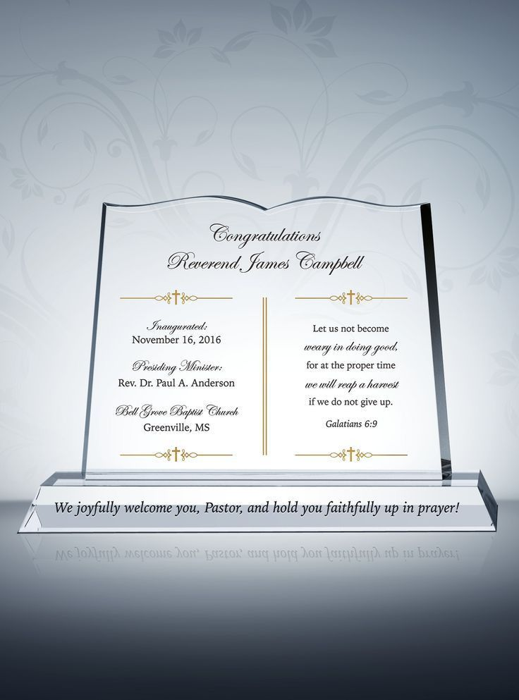 215 best Pastor Gift Plaques images on Pinterest | Appreciation ...