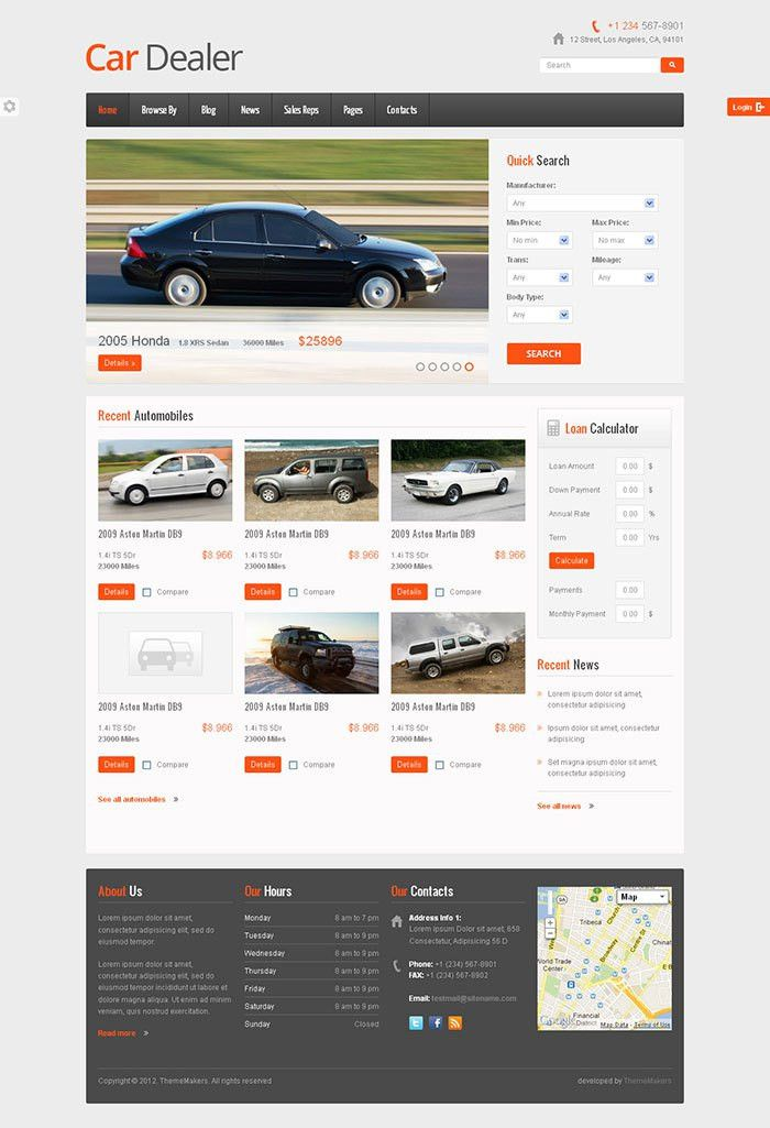 Awesome Car Dealer Website Template | Wakaboom