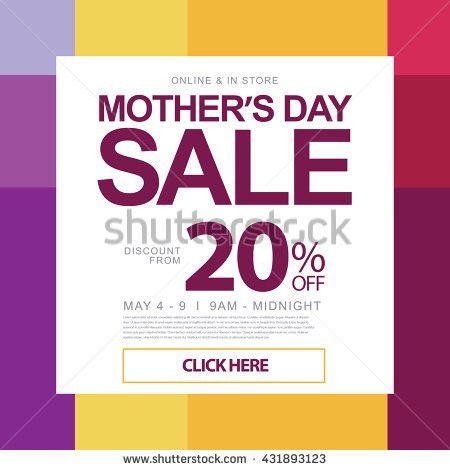 Mothers Day Holiday Sale Promotion Design Stock Vector 431893123 ...
