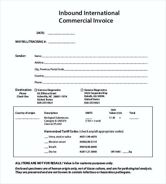 International Commercial Invoice templates PDF , Commercial ...