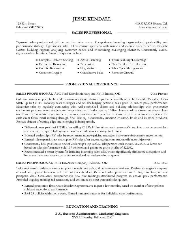 Examples of Professional Resumes - Writing Resume Sample | Writing ...
