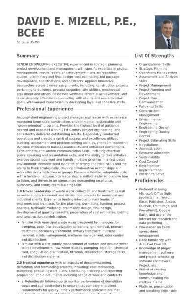 Engineering Manager Resume samples - VisualCV resume samples database