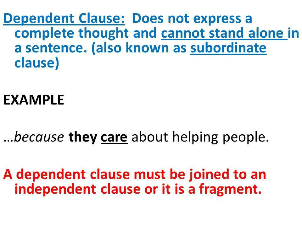 This sentence has two clauses, each with a subject and a verb ...