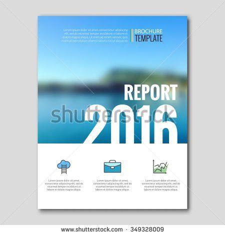 Business Templates Brochure Flyer Report Booklet Stock Vector ...