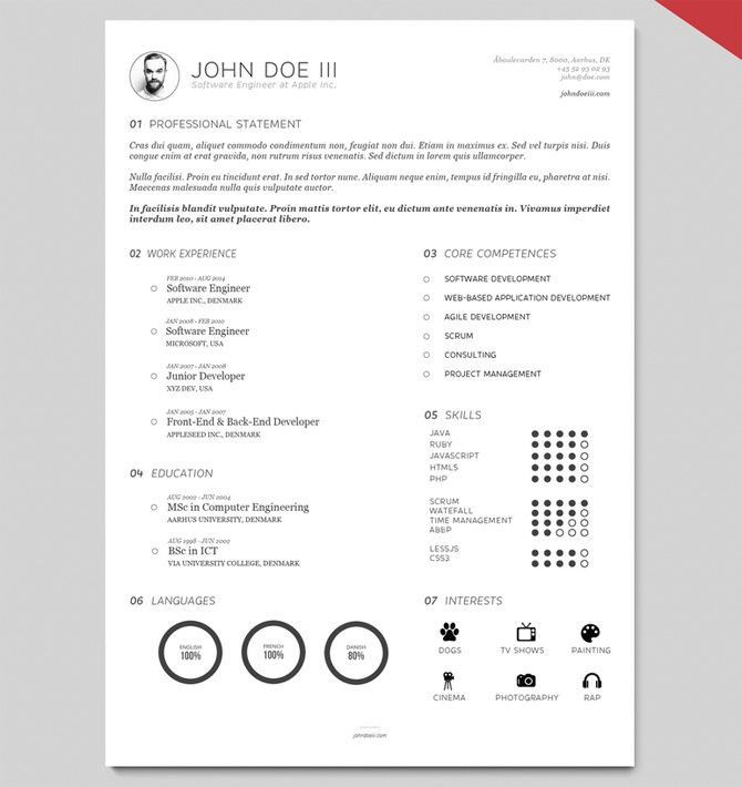 Printable Resume Template. Print Resumes Templates Free Basic Cv ...