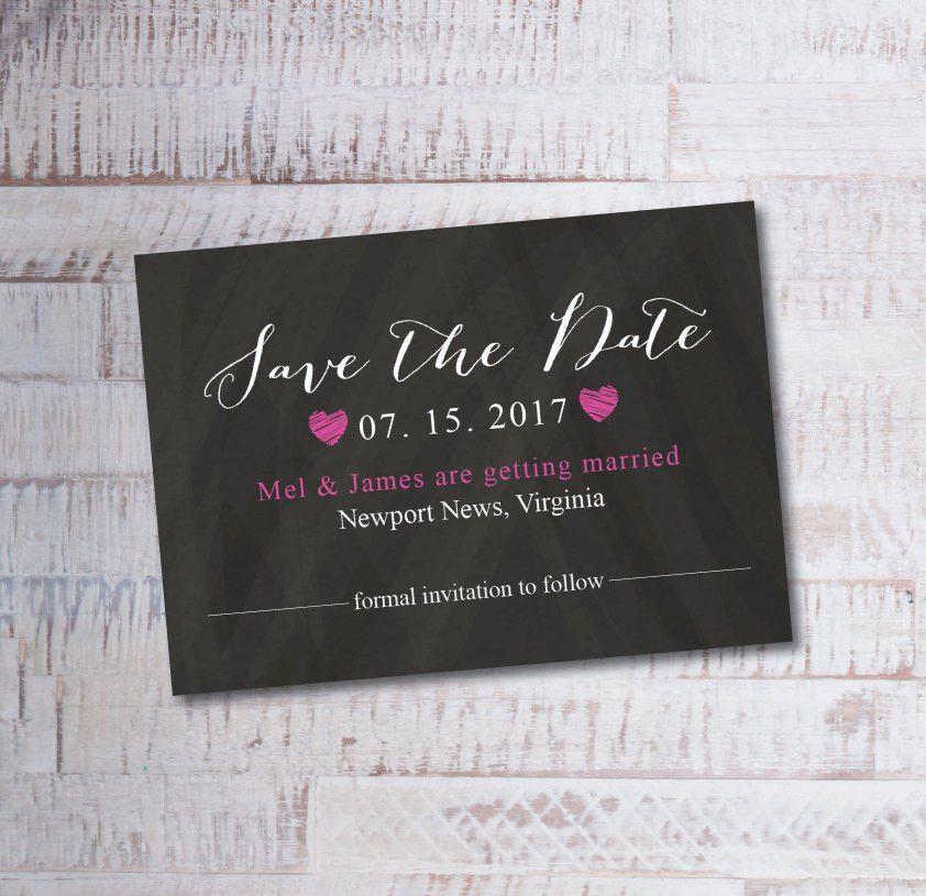 ON SALE Printable Save the Date Calendar Postcard Template ...