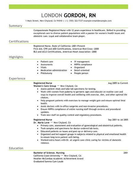 Registered Nurse Resume Template for Microsoft Word | LiveCareer