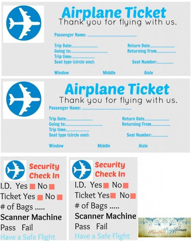 Good-looking Airplane Ticket Template Example with Plane Icon and ...
