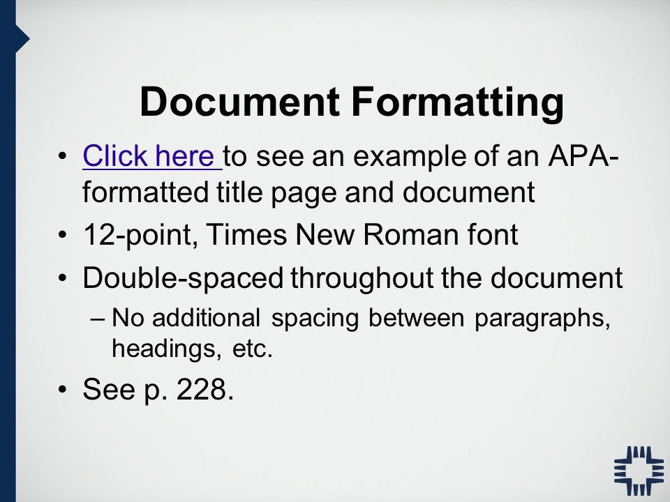 APA Style Writing and Formatting APA Manual 6th Edition - ppt ...