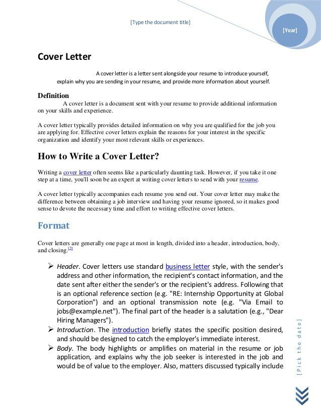 What Is An Cover Letter