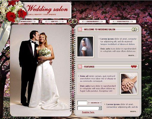 18 Free Lovely Wedding Website Templates | Designfreebies