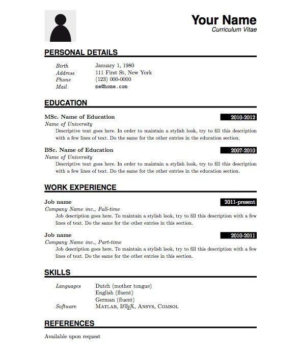 simple resume format for freshers free download pdf examples of ...