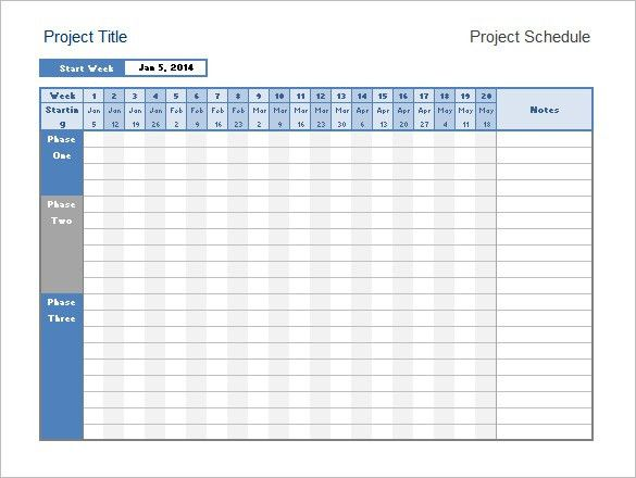 Project Timeline Example  Project Timeline Templates Free Sample