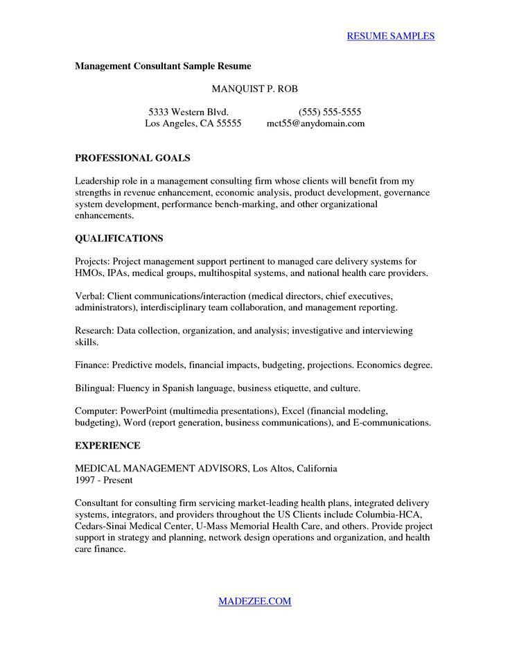 consulting cover letter