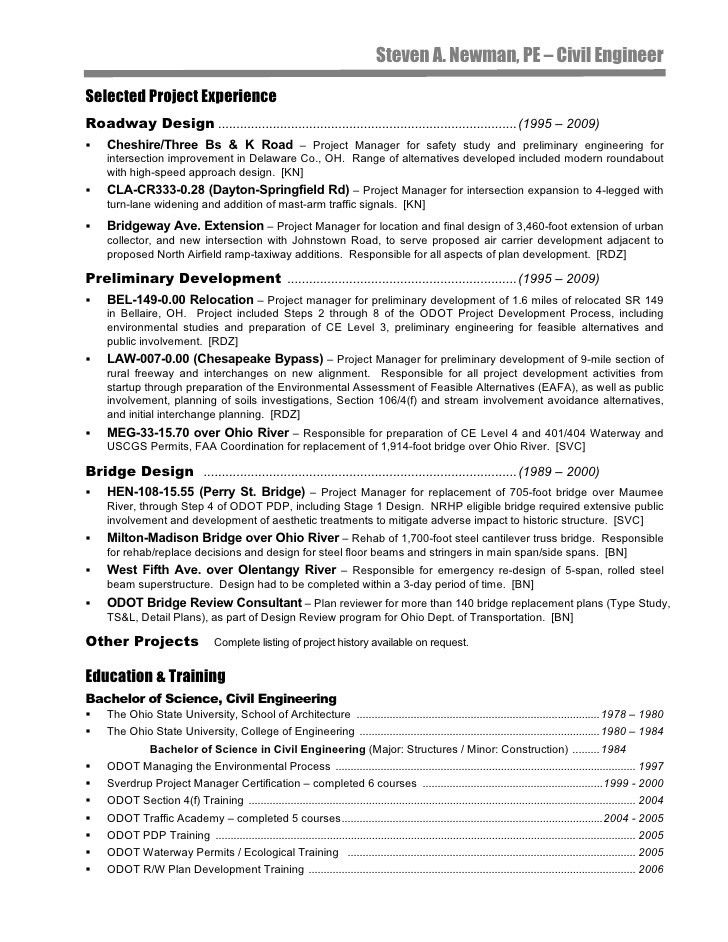 Road Design Engineer Sample Resume | haadyaooverbayresort.com