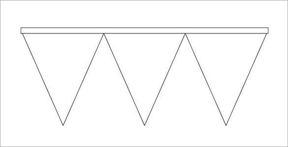 Pennant Banner Template | peerpex