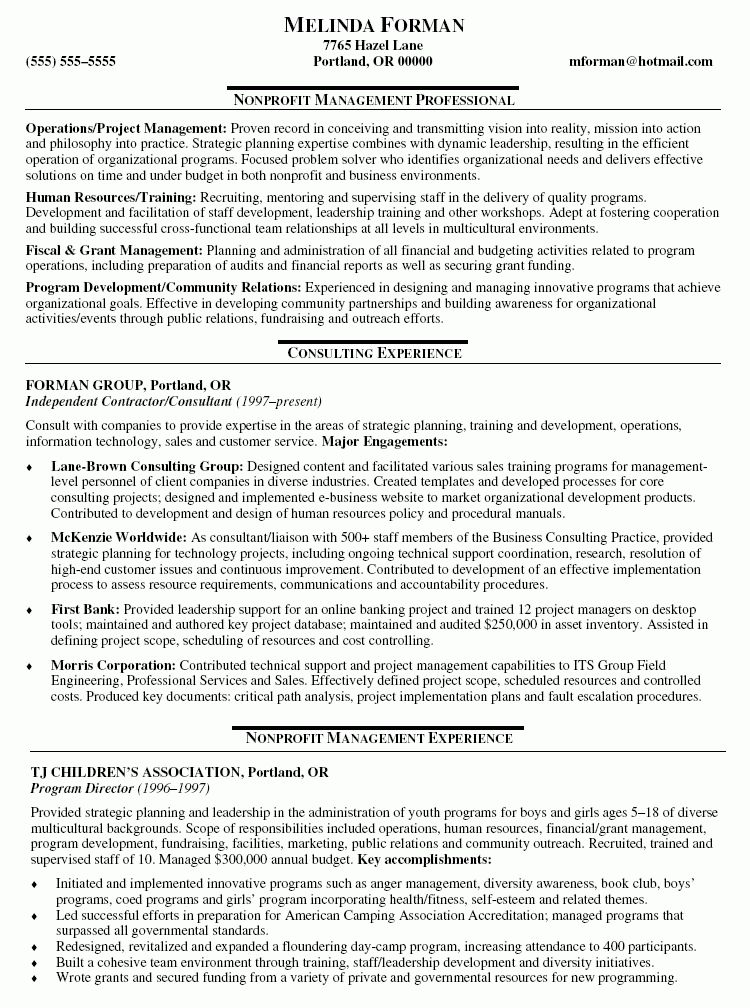 Contractor Resume Template | 517 Best Images About Latest Resume .