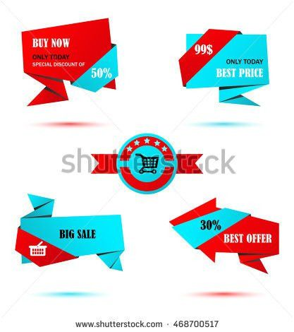Vector Stickers Price Tag Banner Label Stock Vector 468700517 ...