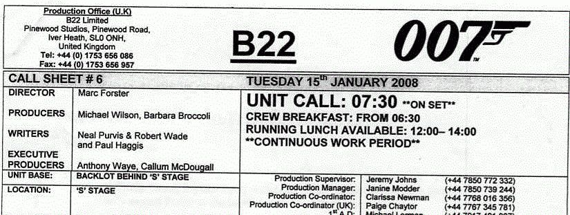 What is a Call Sheet? Plus Template download — Amy Clarke Films