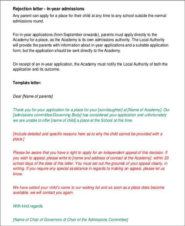 Admission Letter Templates - 8+ Free Sample, Example Format ...