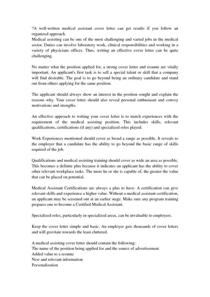 Medical Assistant Cover Letter With No Experience | Template Design