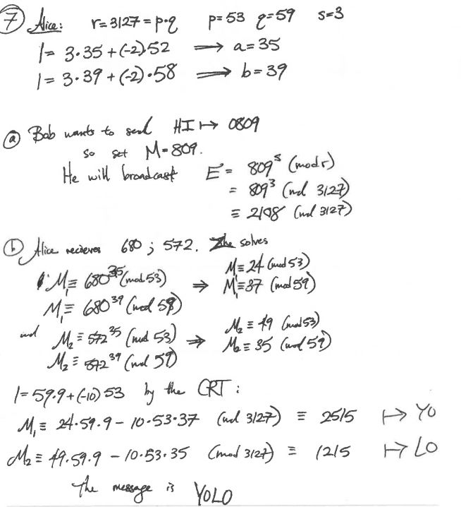 RSA Encryption using Chinese Remainder Theorem and Fermat's Little ...