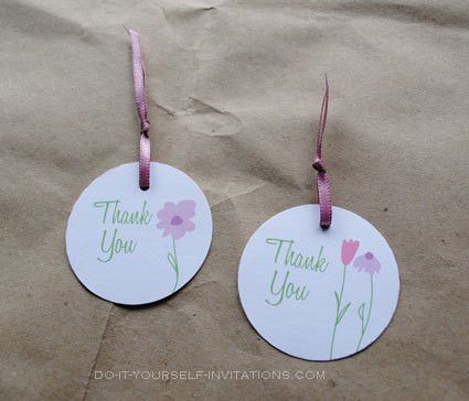 Favor tags- part of our Flower Garden Whimsy baby shower ...