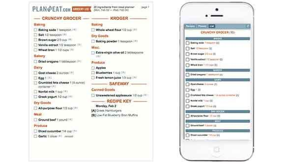 Meal Planner and Grocery Shopping List Maker - Plan to Eat