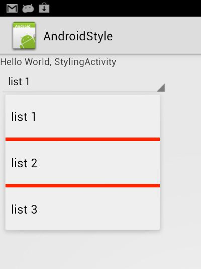 themes - Android: Cannot style spinner divider - Stack Overflow